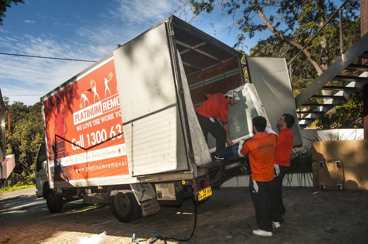 platinum removals truck and removalists