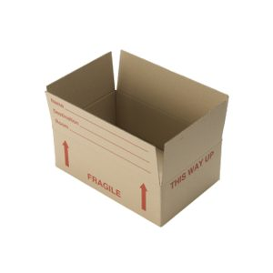 open fragile packing box