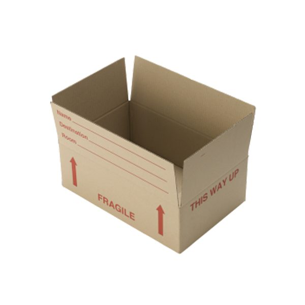 open fragile packing box