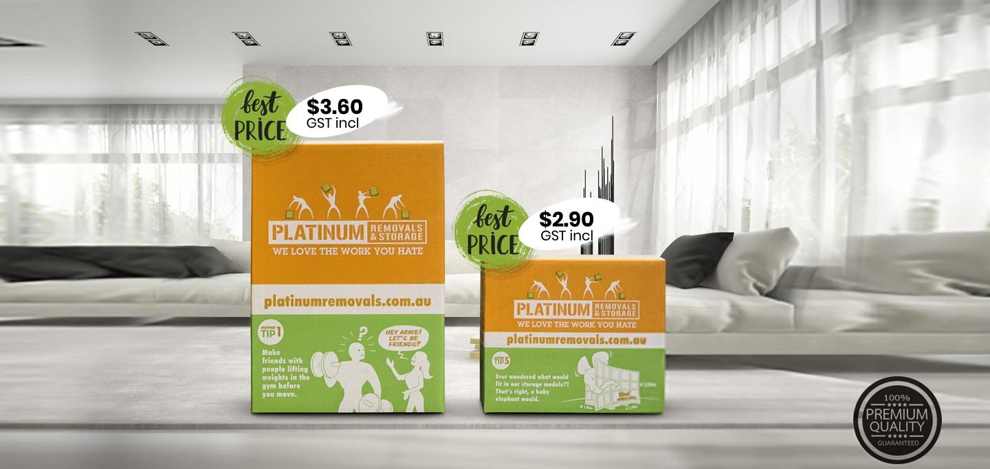 Platinum Removals moving boxes and prices